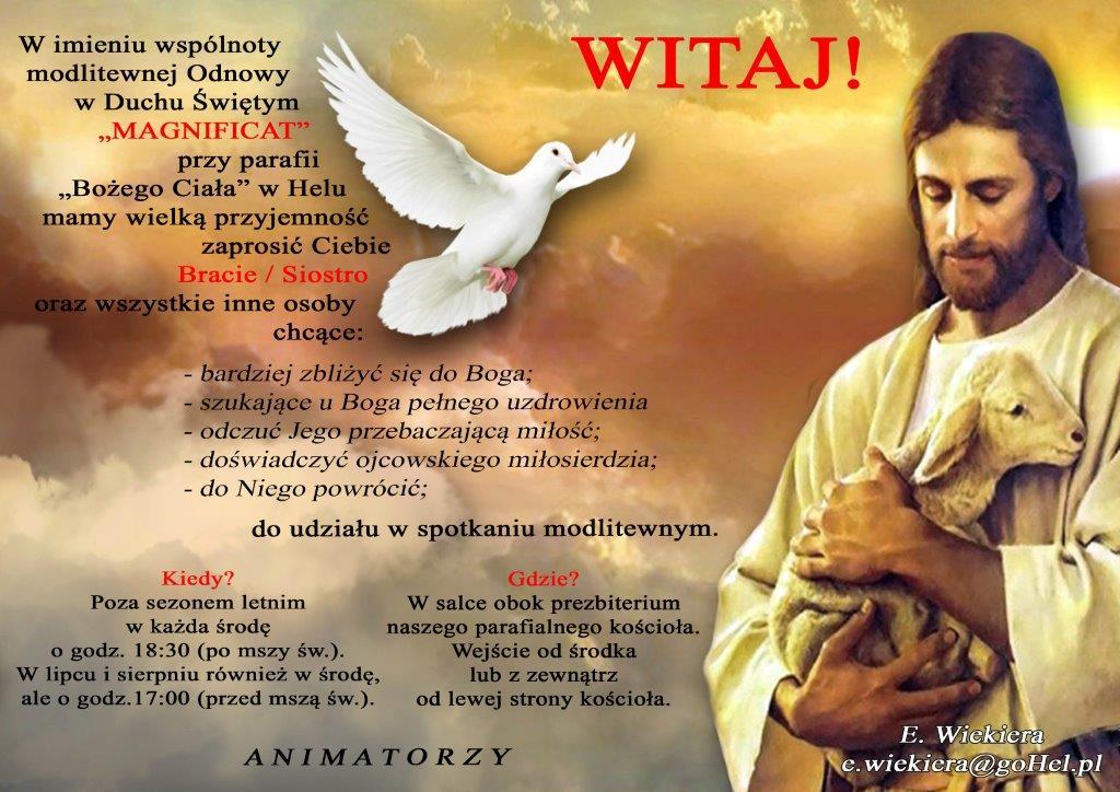 """Spotkanie modlitewne - Wspólnota """"Magnificat"""", Hel"""
